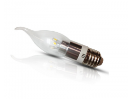 3Watt Flame Shape LED Candle Light - E26/E27 LED Candelabra Bulb - Warm White 3200K - 30W Incandescent Replacement