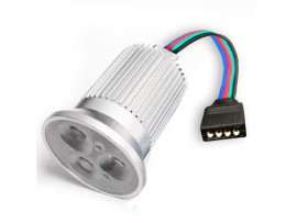 12V 9W RGB 3-in-1 LED Light Bulbs - Color Changing LED Spotlight - DMX Compatible, Memory Function, 45 Degree Beam Angle