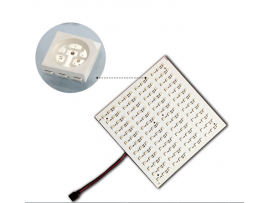 Color-changing RGB LED Light Plate Light Board - 12V 36W DMX Compatible 156LEDs 7inch*7inch for Project Lighting, Party Lighting, Creative Design