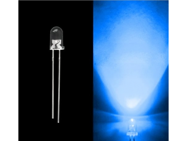 10pcs 5mm Light Emitting Diodes - Round Head Water Clear LED Diodes