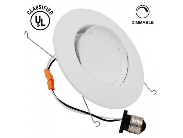 10W 5-6 inch Directional UL-listed Dimmable LED Recessed Lighting Fixture - Warm White/Daylight LED Ceiling Light - 920LM 75W Equivalent Recessed Downlight