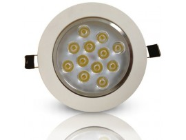 AC85-265V 12Watt Directional LED Recessed Light - Warm White/Daylight LED Ceiling Light (Driver included)