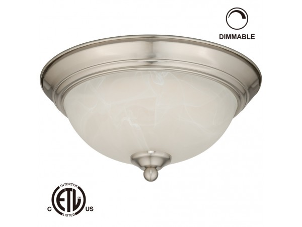 12W 11-inch LED Flush Mount Ceiling Light - ETL-listed Dimmable LED Ceiling Light Fixtures - 3000K Warm White and 800lm Lighting Fixtures
