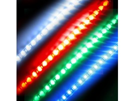 Super Bright 1ft (30cm) Waterproof Flexible LED Strip Lights - 5050 SMD 18LEDs/pc - Waterproof IP-65