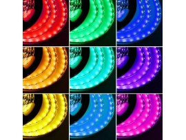 16.4ft (5m) RGB Color-changing Flexible LED Strip Lights - 5050 SMD LED Light Strip - Multifunctional LED Tape Light