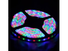 16.4ft (5m) Waterproof Flexible Color Chasing LED Strip Lights w/ 24-key IR Remote - 3528 SMD LED Light Strip