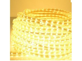12mm 110V 328ft (100m) Flexible Waterproof LED Rope Light - Warm White/Daylight 5050 SMD LEDs - Clear PVC Tube Waterproof IP-67
