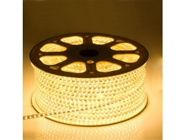 10mm 110V 165ft  Flexible Waterproof LED Rope Light - Warm White/Daylight 5050 SMD LEDs - Clear PVC Tube Waterproof IP-67