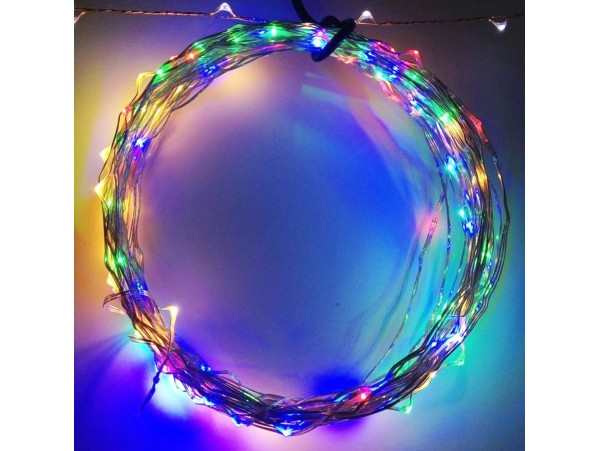 20ft (6m) Fairy LED Wire String Lights - Starry Twinkle Lights w/ Power Adapter for Holiday, Christmas and Party (Waterproof)