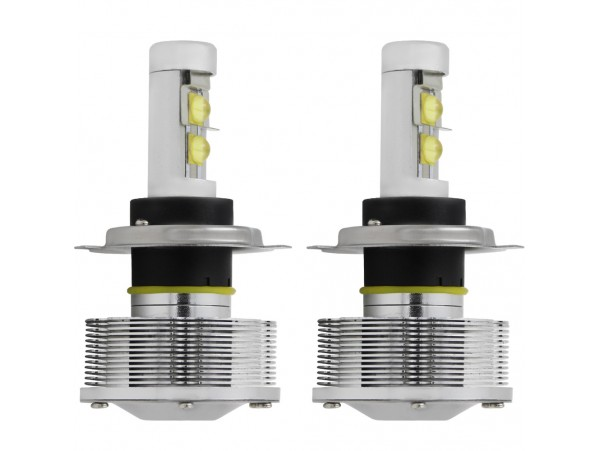 9003/HB2/H4 LED Headlight Conversion Kit - 2pcs High Low Beam H4 LED Headlight Bulbs w/ Installation Cables - 30W 3000LM 6000K Waterproof IP-68 - Better for Replace Halogen & HID Bulbs