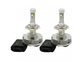 CREE H7 LED Headlight Conversion Kit - 2pcs H7 LED Headlight Bulbs w/ Installation Cables - 20W 2400LM 6000K Waterproof IP-68 - Better for Replace Halogen & HID Bulbs