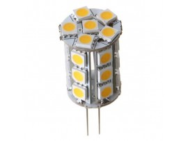 12V AC/DC 2W Tower Type G4 Bi-pin LED Bulb - 3200K Warm White G4 Light Bulb - 24 SMD 5050 LEDs Omni-directional