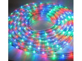 12mm 110V 164ft (50m) Flex Waterproof RGB LED Rope Light - 5050 SMD LEDs - Clear PVC Tube Waterproof IP-67