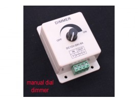 Manual Dial Dimmer for Single-color Lights