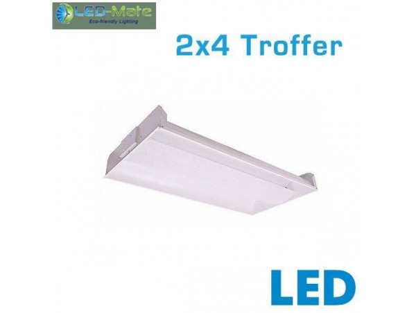 LED-MATE  2x4 LED Recessed Troffer - 42 Watts - 4300 Lumens - 0-10V Dimming - 4000K